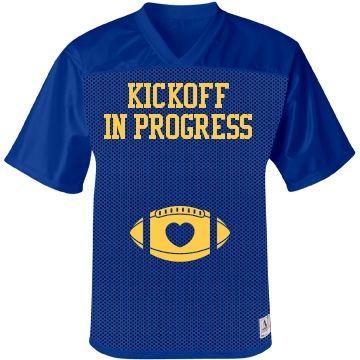 Maternity football jersey