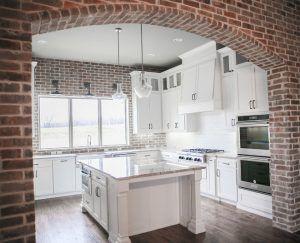Farmhouse Kitchen With Exposed Brick Exposed Brick Kitchen