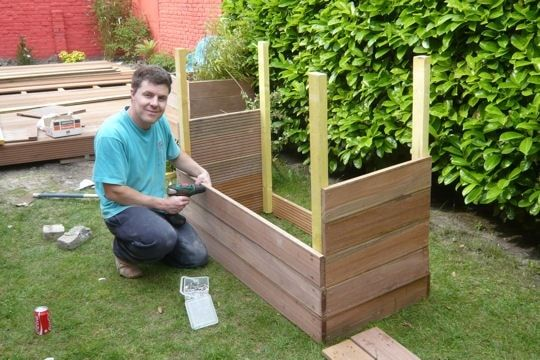 des bacs fleurs g ants jardin diy planter box diy outdoor wood projects et diy planters. Black Bedroom Furniture Sets. Home Design Ideas