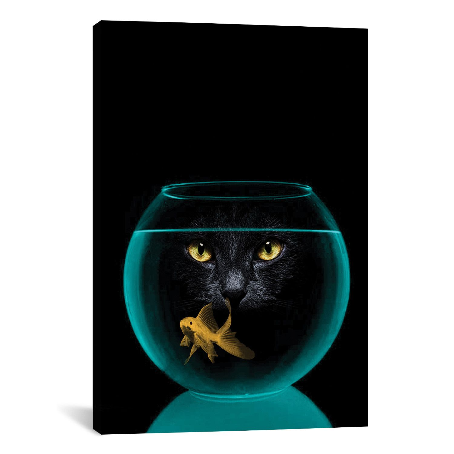 Black Cat Goldfish By Vin Zzep Sponsored Cat Black Goldfish Zzep Gallery Wrap Canvas Canvas Art Prints Art