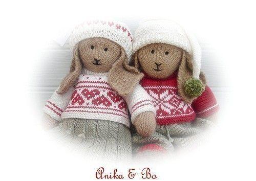 Anika & Bo/ Lapland Visitors/ PDF Toy Knitting Patterns/ DIGITAL Instant ...