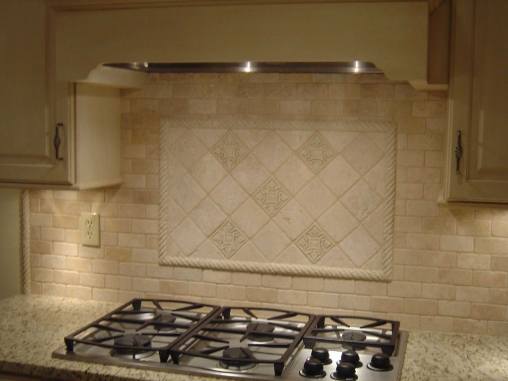 Inexpensive Backsplash Behind Stove Just One Of The Many Gallery