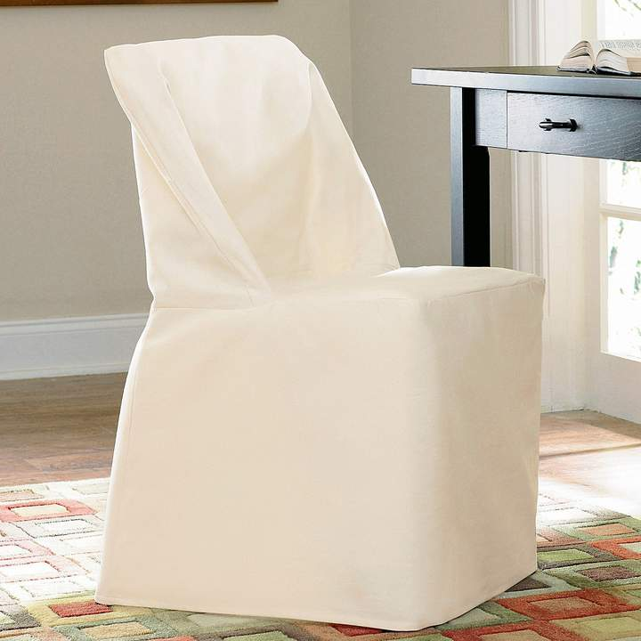Excellent Sure Fit Solid Duck Cloth Folding Chair Slipcover Products Pabps2019 Chair Design Images Pabps2019Com