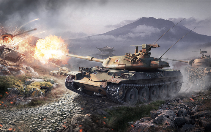 Download wallpapers World of Tanks, STB1, online game