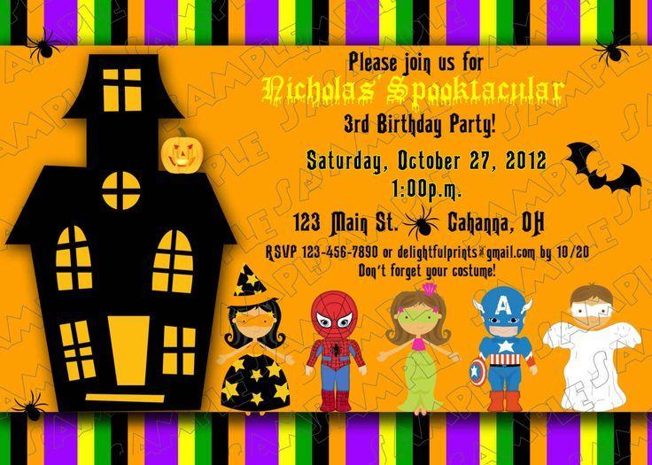 ensure your children halloween invitation wordings are unique and
