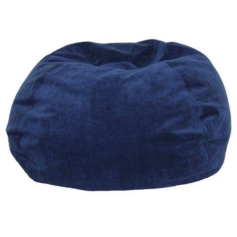 Circo 174 Herringbone Bean Bag Navy 39 99 Bean Bag Chair