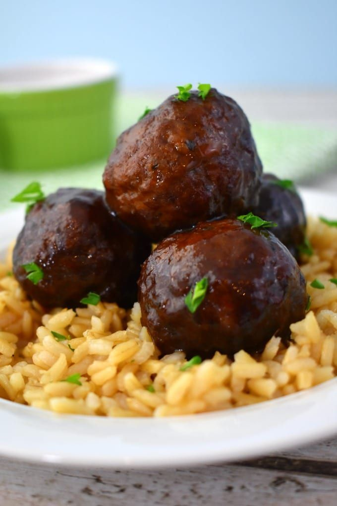 Homemade Crockpot Jelly Meatballs images