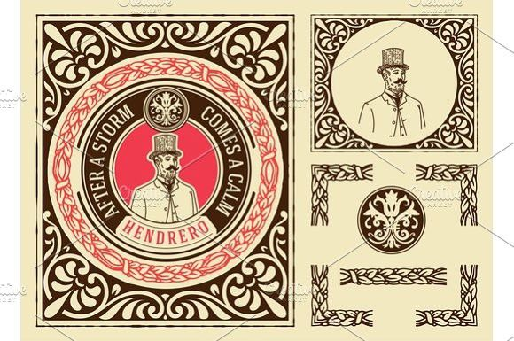Retro Design With Elements Certificate Templates Certificate