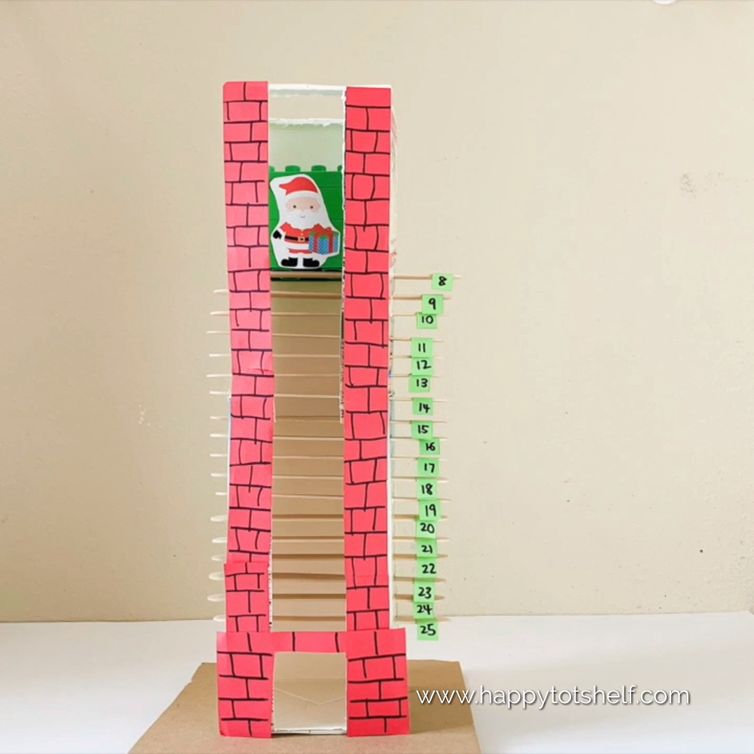 MILK CARTON CHIMNEY – A DIY KIDS ADVENT CALENDAR