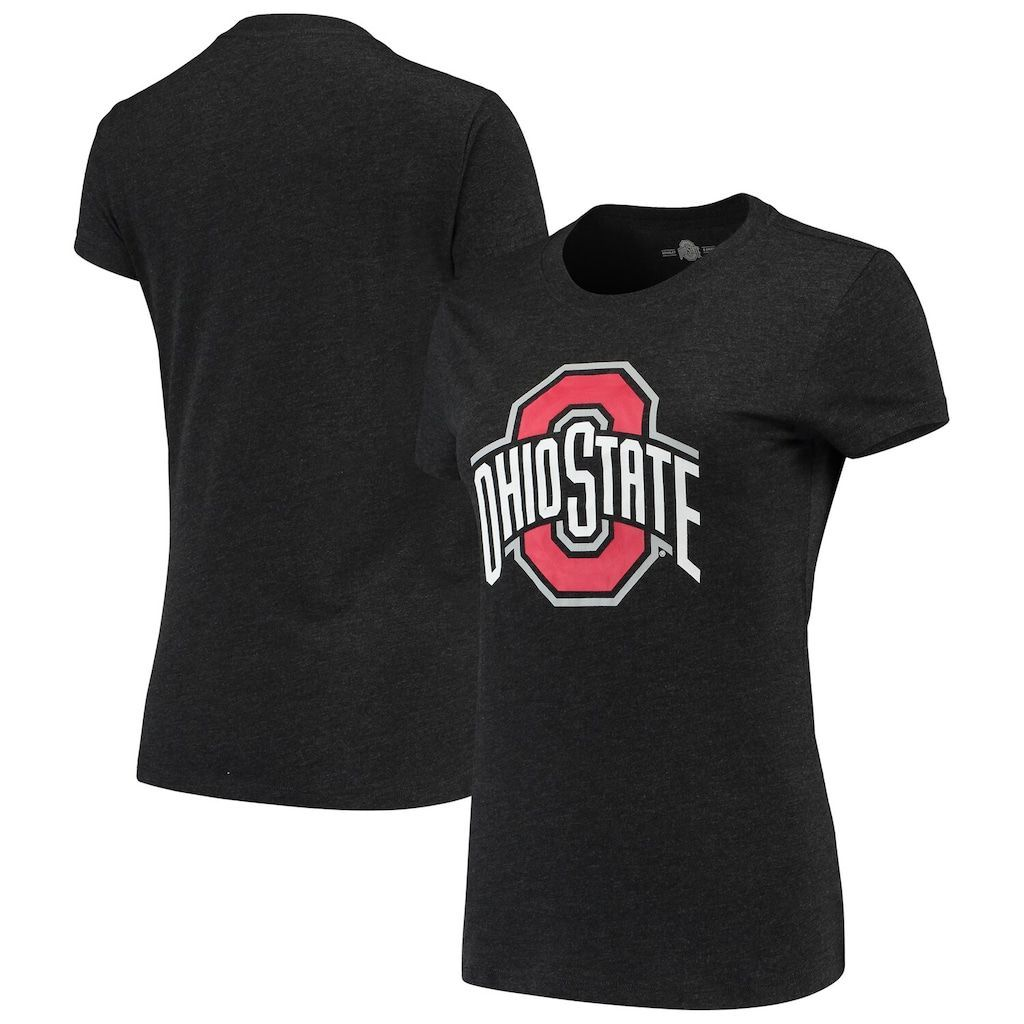 Women's Heathered Black Ohio State Buckeyes Tri-Blend T-Shirt, Size: XL, Grey #ohiostatebuckeyes Women's Heathered Black Ohio State Buckeyes Tri-Blend T-Shirt, Size: XL, OSU CHARCO #ohiostatebuckeyes