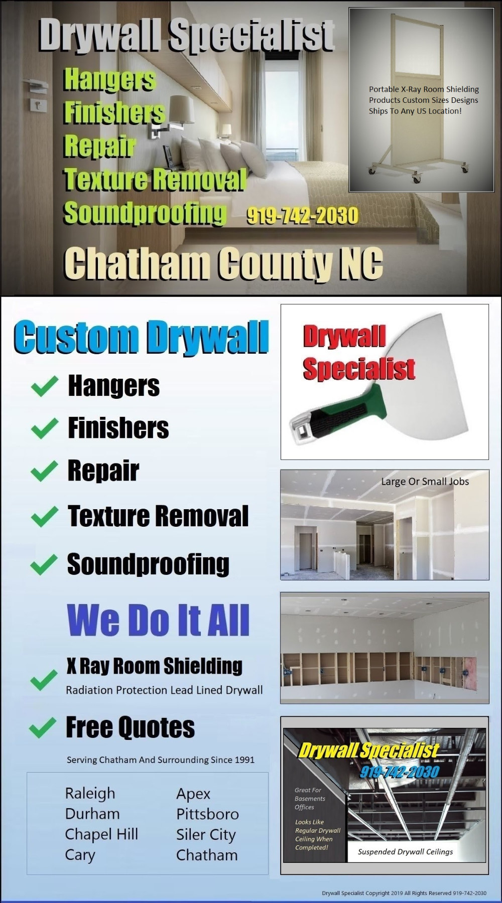 If You Need A Quote To Hang Drywall In Your Home In Pittsboro Call Drywall Specialist For Fast Professional Installa In 2020 Chatham County Drywall Repair Pittsboro
