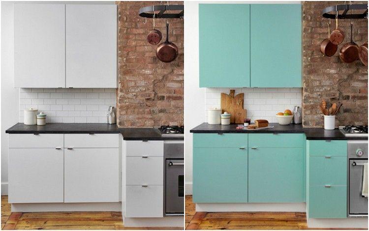 Klebefolie für Küche verwenden und die Küchenmöbel und ...