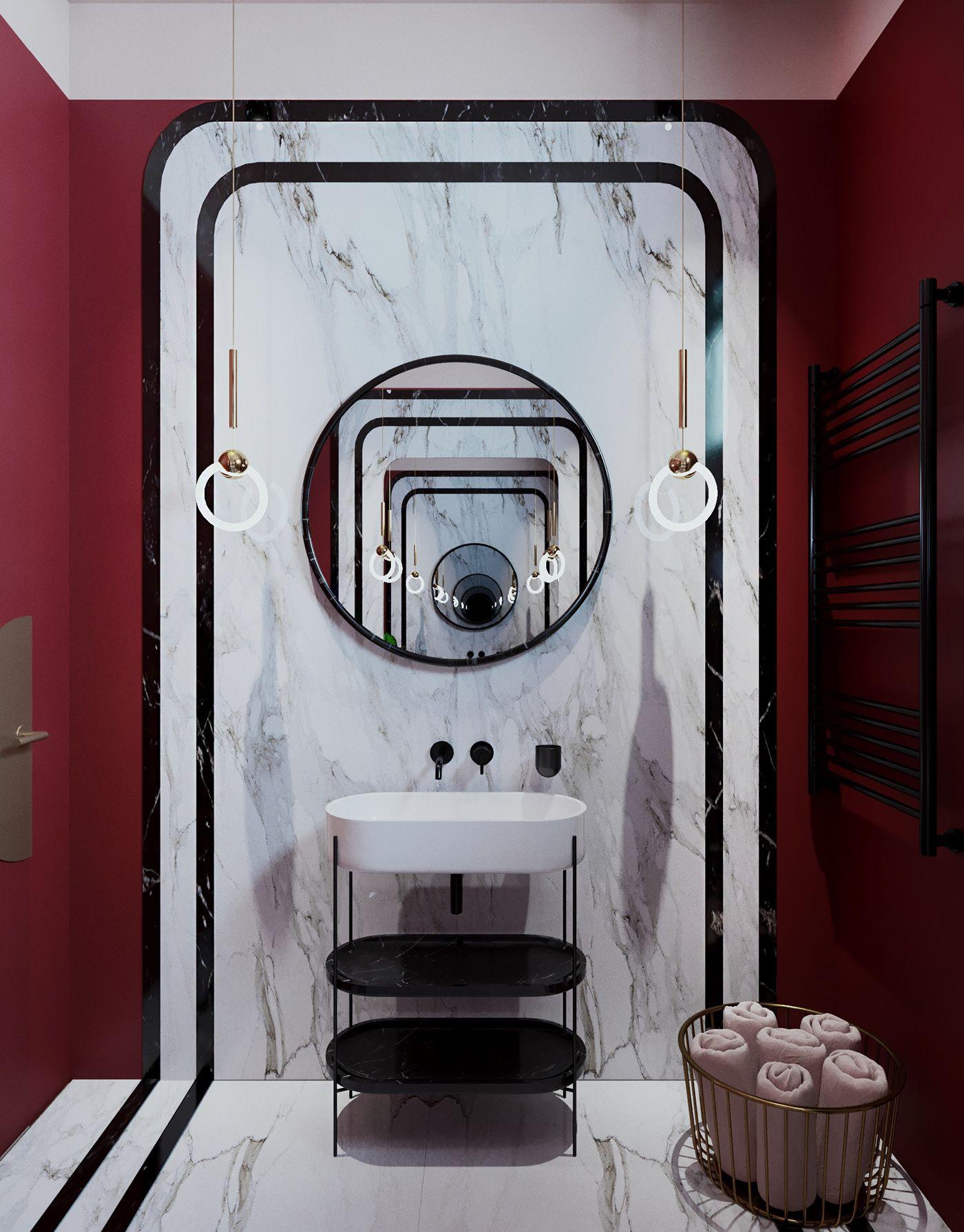 Pin By Joyking Chan On Smolnyi Bathroom Design Bathroom Design Luxury Bathroom Red