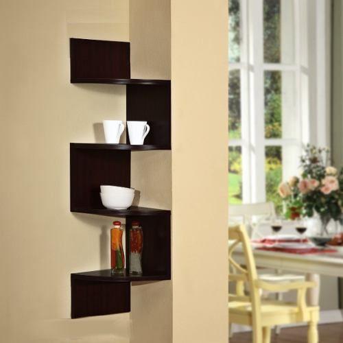 Repisa esquinero real madera repisas for Esquineros para paredes