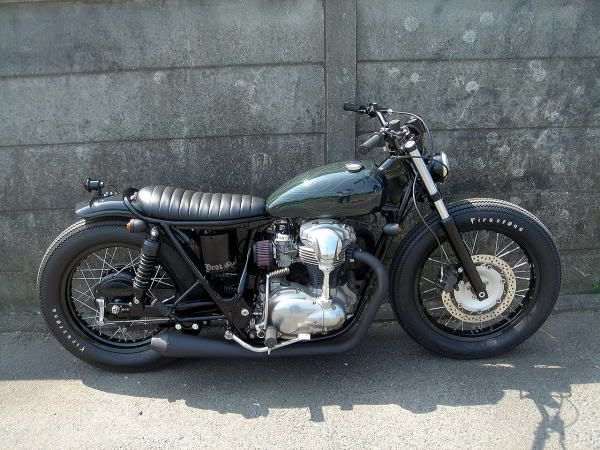 vwvortex - '77 kawasaki kz400 cafe racer with a touch of class