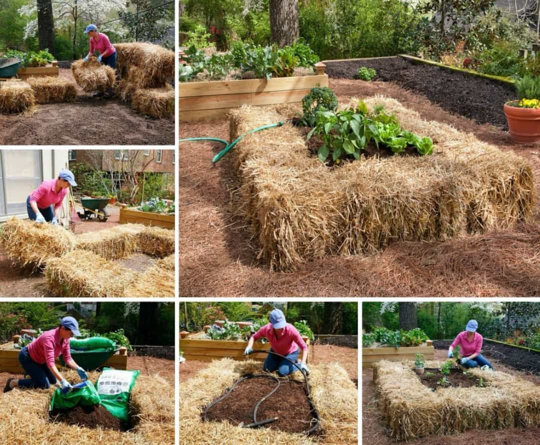 How To Build A Raised Straw Bale Bed   how to garden   Pinterest ...