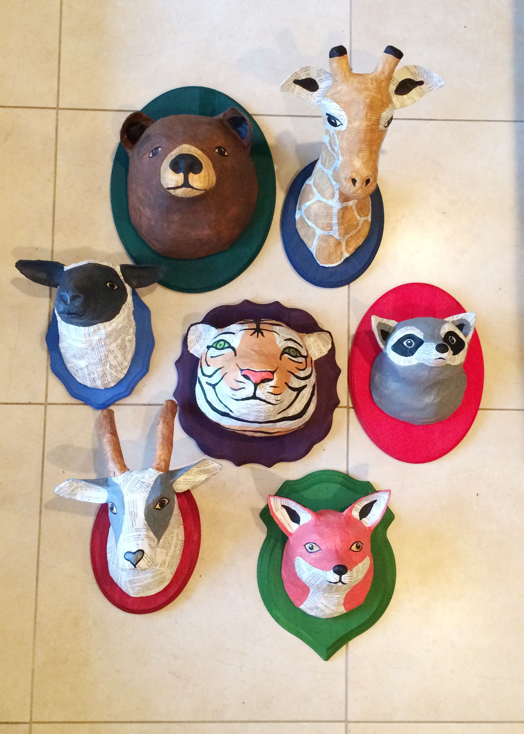 Heads2 art projects for kids pinterest paper mache craft super cute paper mch animal heads a sharper focus jeuxipadfo Images