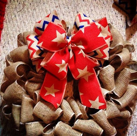 Fourth of July CHANGE OUT BOW- not wreath