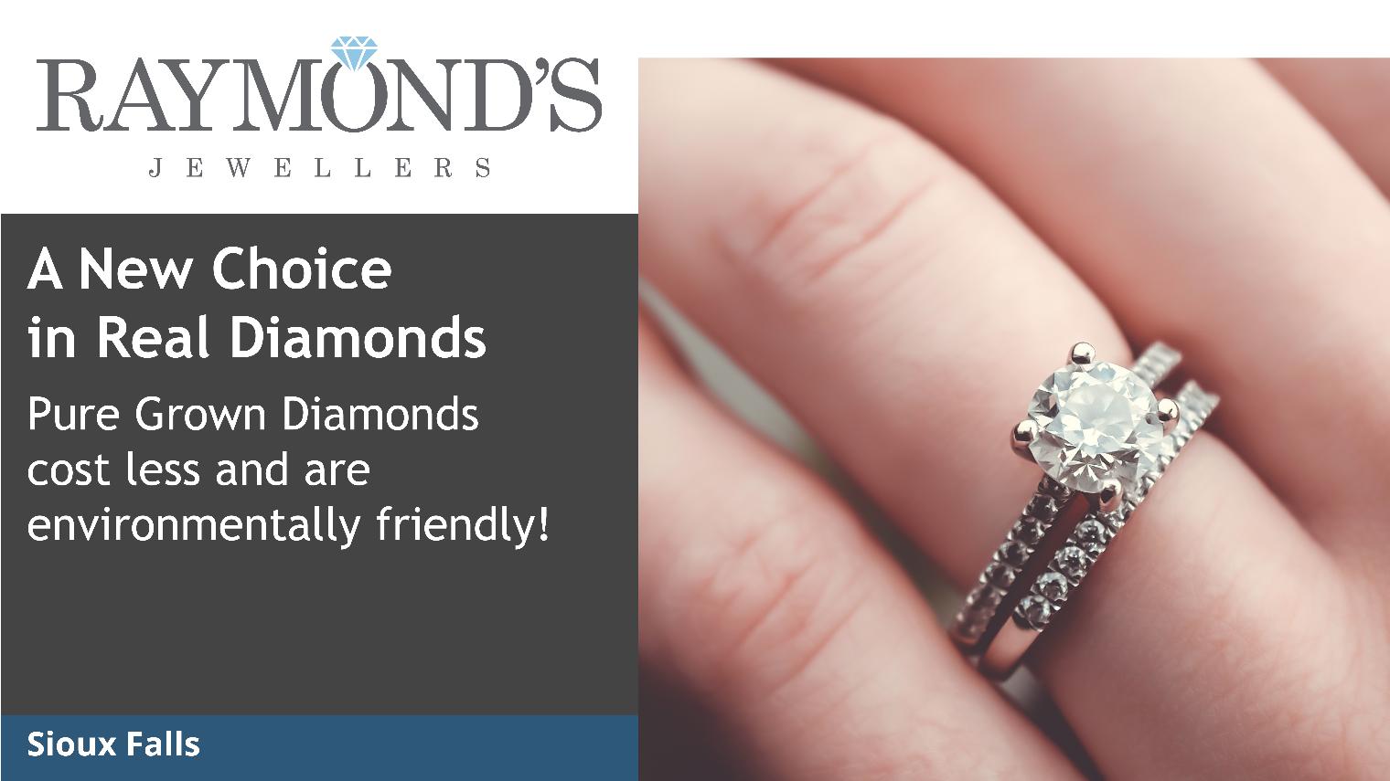 Pure Grown Diamonds engagement rings from Raymond\'s Jewellers offer ...