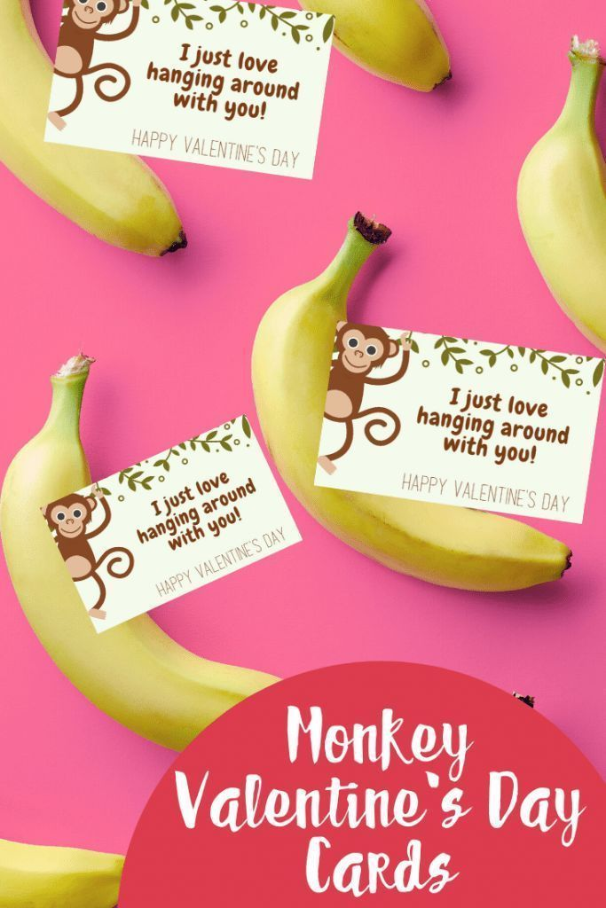These Valentine's Day monkey cards are free to print and absolutely adorable! Att ..., #absolutely #ADORABLE #Att #Cards #Day #Free #monkey #Print #Valentine39s #ValentinesDayDecorationsbedroom #ValentinesDayDecorationsdiy #ValentinesDayDecorationsdollarstore #ValentinesDayDecorationsforclassroom #ValentinesDayDecorationsforhome #ValentinesDayDecorationsforoffice...
