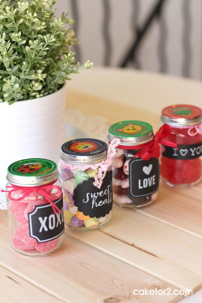 Check Out This Darling Valentines Gift Idea Using A Baby Food Jar Project Shared