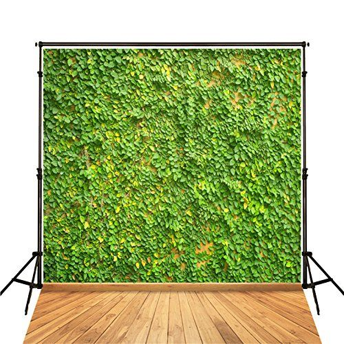 Green 8x10 FT Photo Backdrops,Abstract Art Style Vector Illustration of Water Drops Background Print Background for Baby Shower Bridal Wedding Studio Photography Pictures Fern Green Green