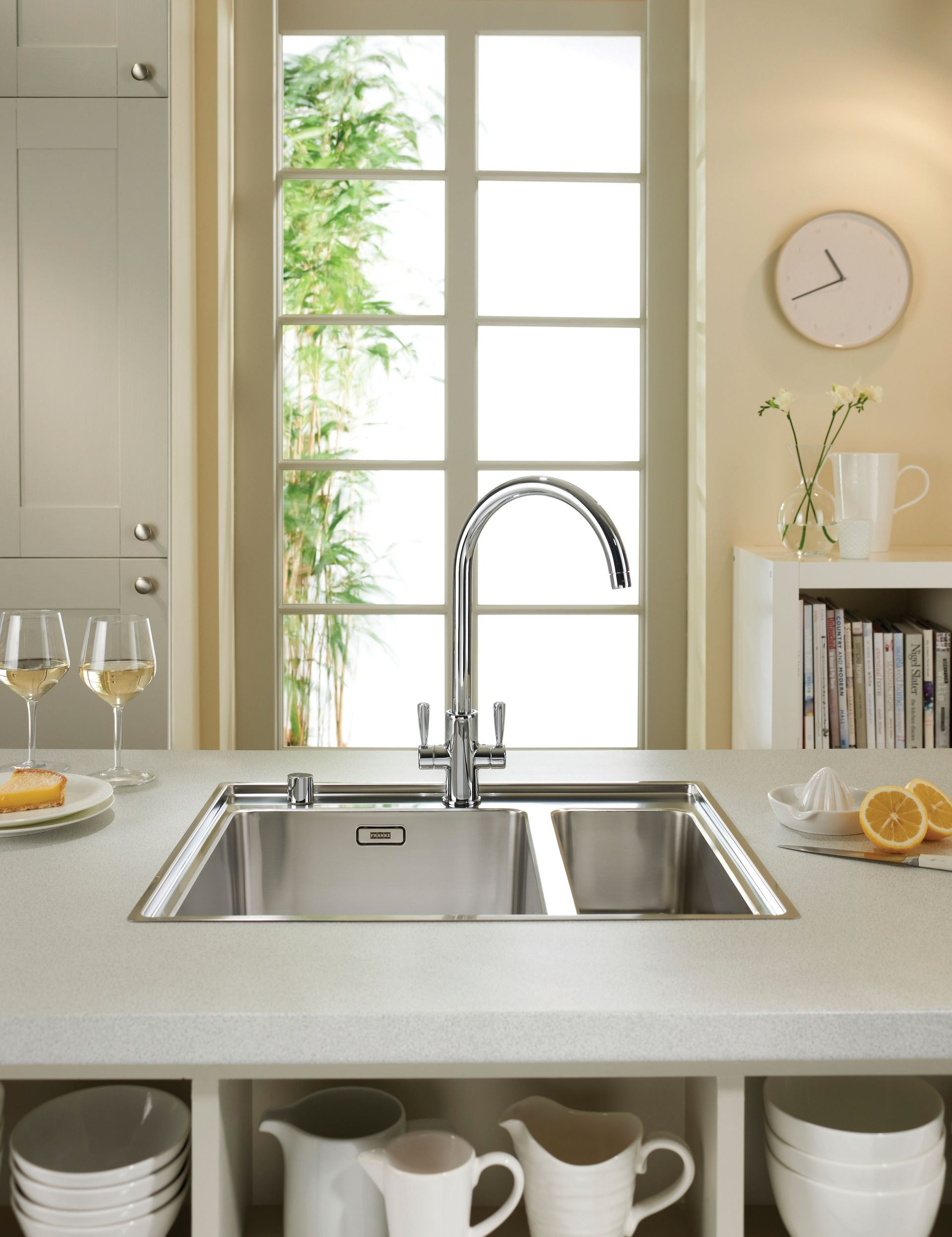 Silestone integrity sink with recess drainer - Blanco Etagon Silgranit Sink With Blanco Culina Mini S Tap Soap Dispenser Fitted Into Silestone Worktop Alno Kitchen Pinterest Sinks