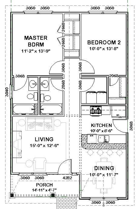 Plan Bonnie Stock House Plan Small House Plans Small House Floor Plans How To Plan