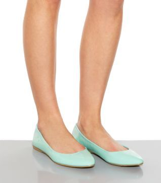 Wide Fit Mint Patent Green Pointed Pumps