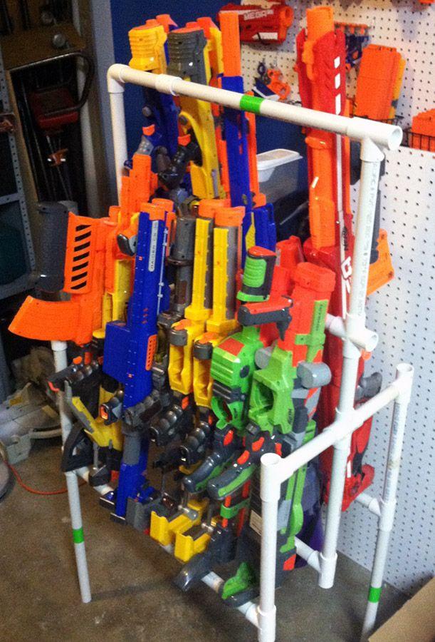 Nerf Gun storage using 3/4