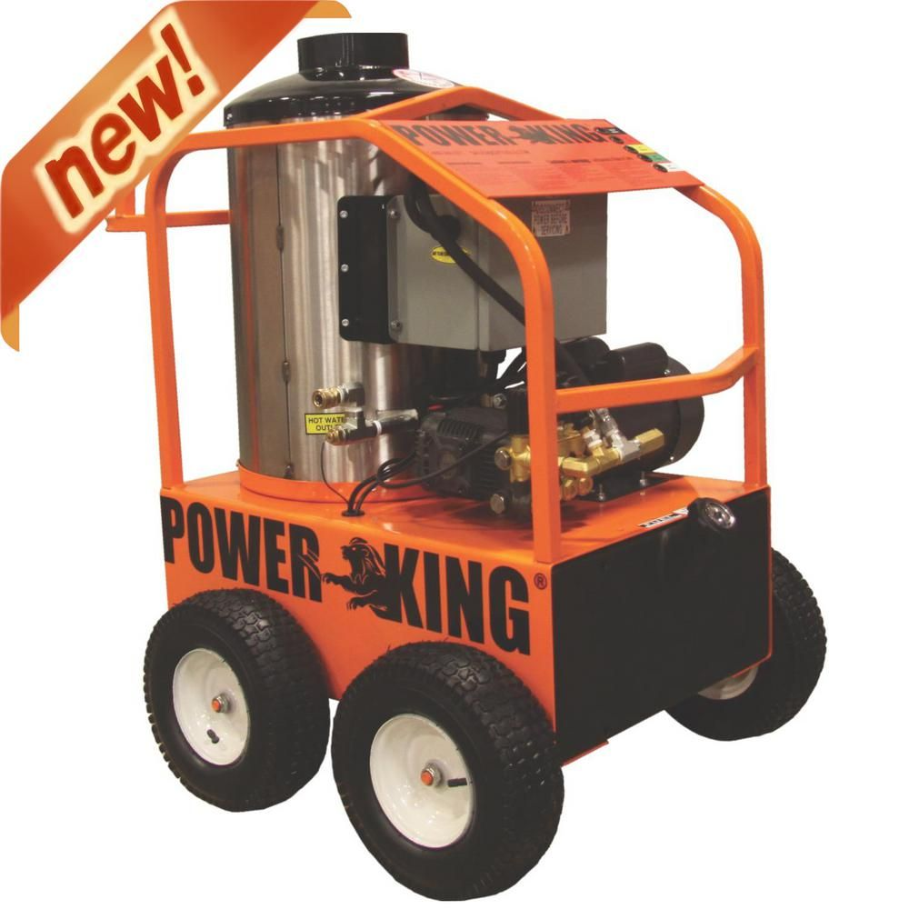 PowerKing 1,500-PSI 2.0 GPM Commercial Electric Hot Water Pressure Washer