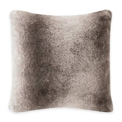 Bed Bath And Beyond Decorative Pillows Cool Madison Park Signature Serengeti Fauxfur Square Throw Pillow  Bed Design Ideas