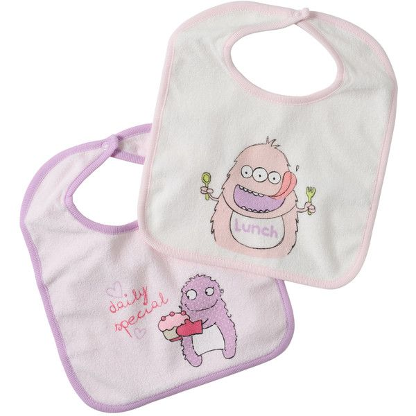 Benetton Bibs (£5.63) ❤ liked on Polyvore featuring baby