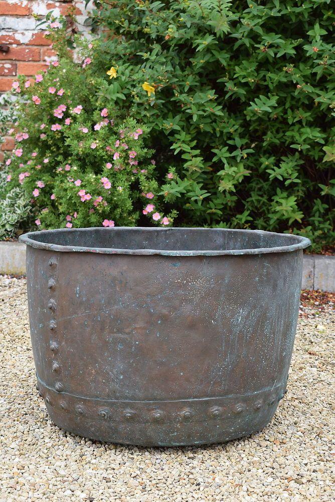 Victorian Copper Garden Planter Old Vintage Trough Pot Jardiniere Antique Tub In 2020 Garden Planters Planters Garden Trees