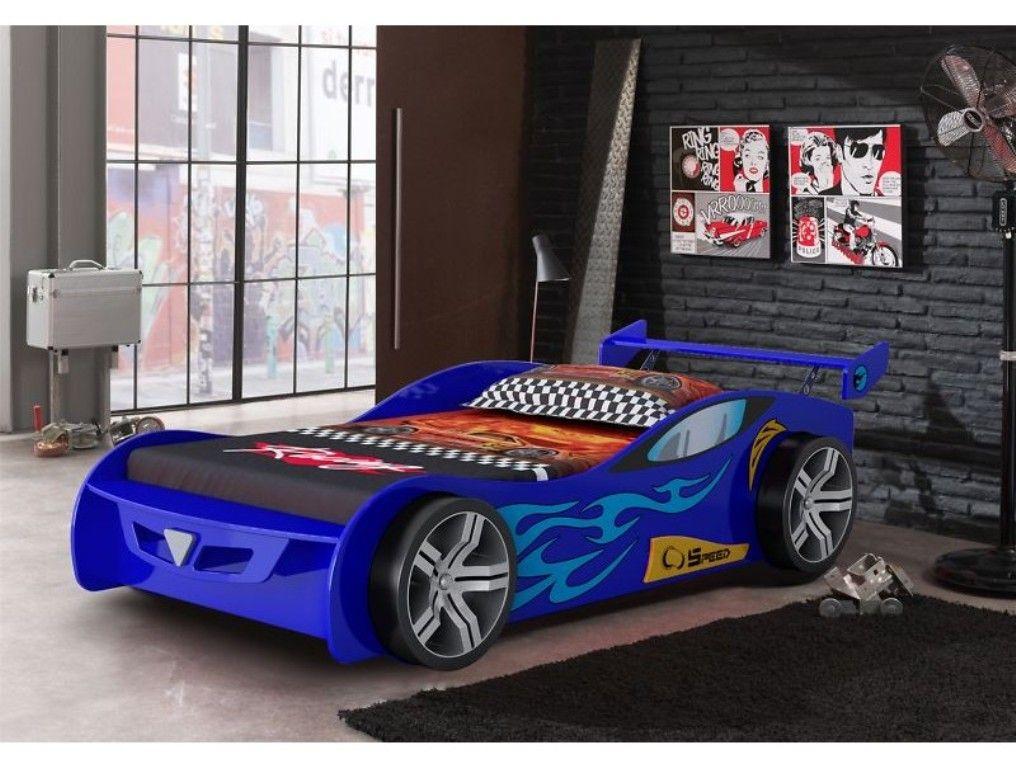 Blue Racing Car Bed Car bed, Toddler car bed, Race car bed