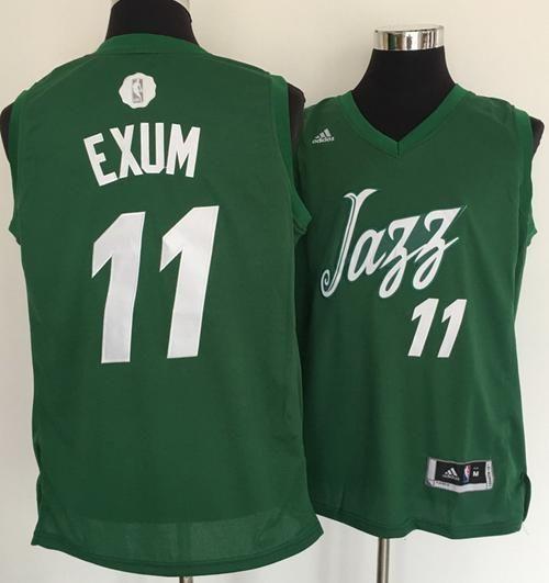 promo code 78cce 1af12 $21 Utah Jazz #11 Dante Exum adidas Green 2016 NBA Christmas ...