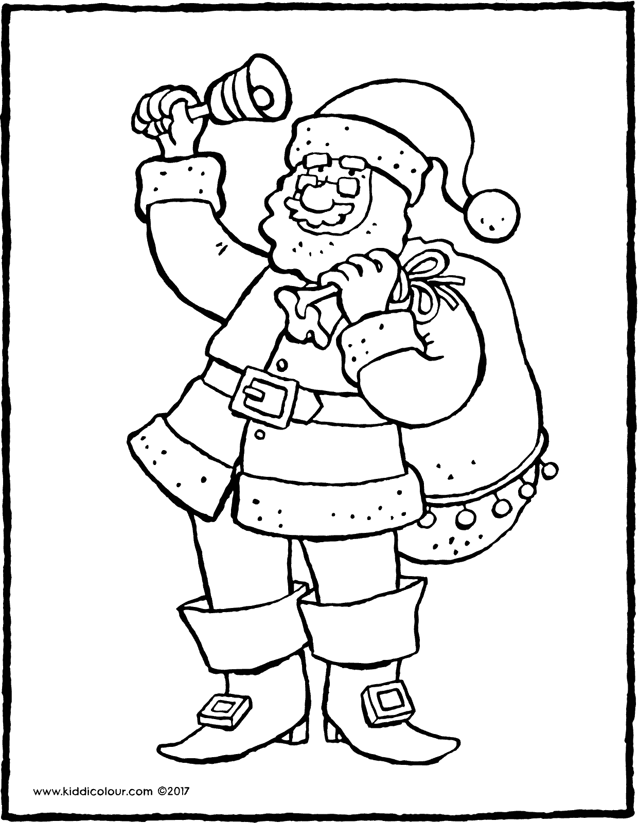 Father Christmas Colouring Page - Colouring Pages for Kids | 1600x1240