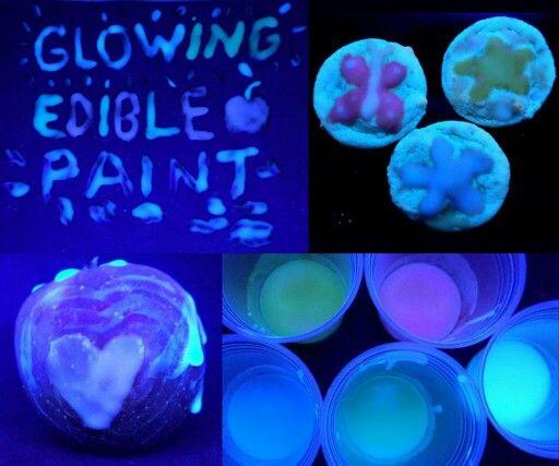 Edible Glow In The Dark Paint Edible Paint Edible Diy Edible