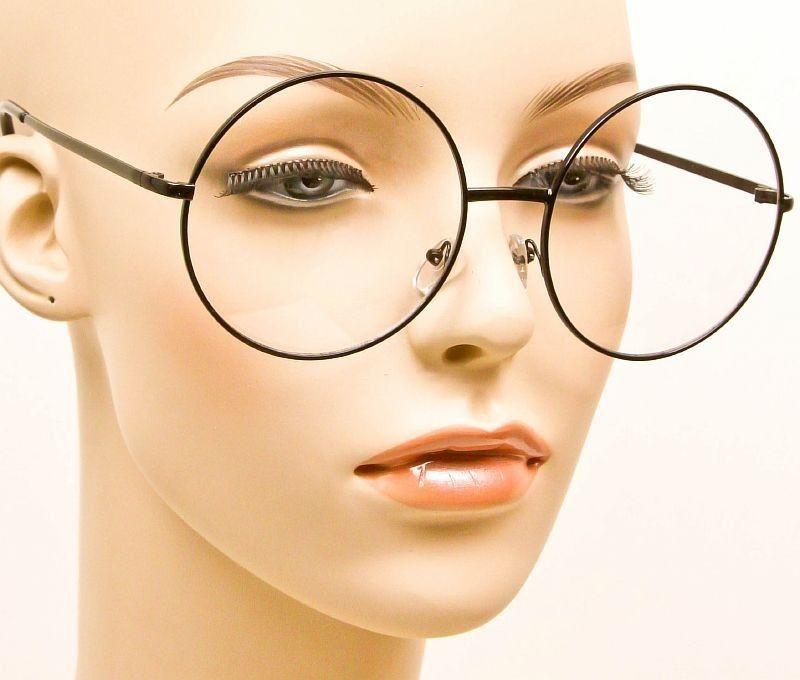 7cf806002b  11.9 - Round Oversized Large Black Metal Classic Lennon Clear Eyeglasses  Frames 033 Xl  ebay  Fashion