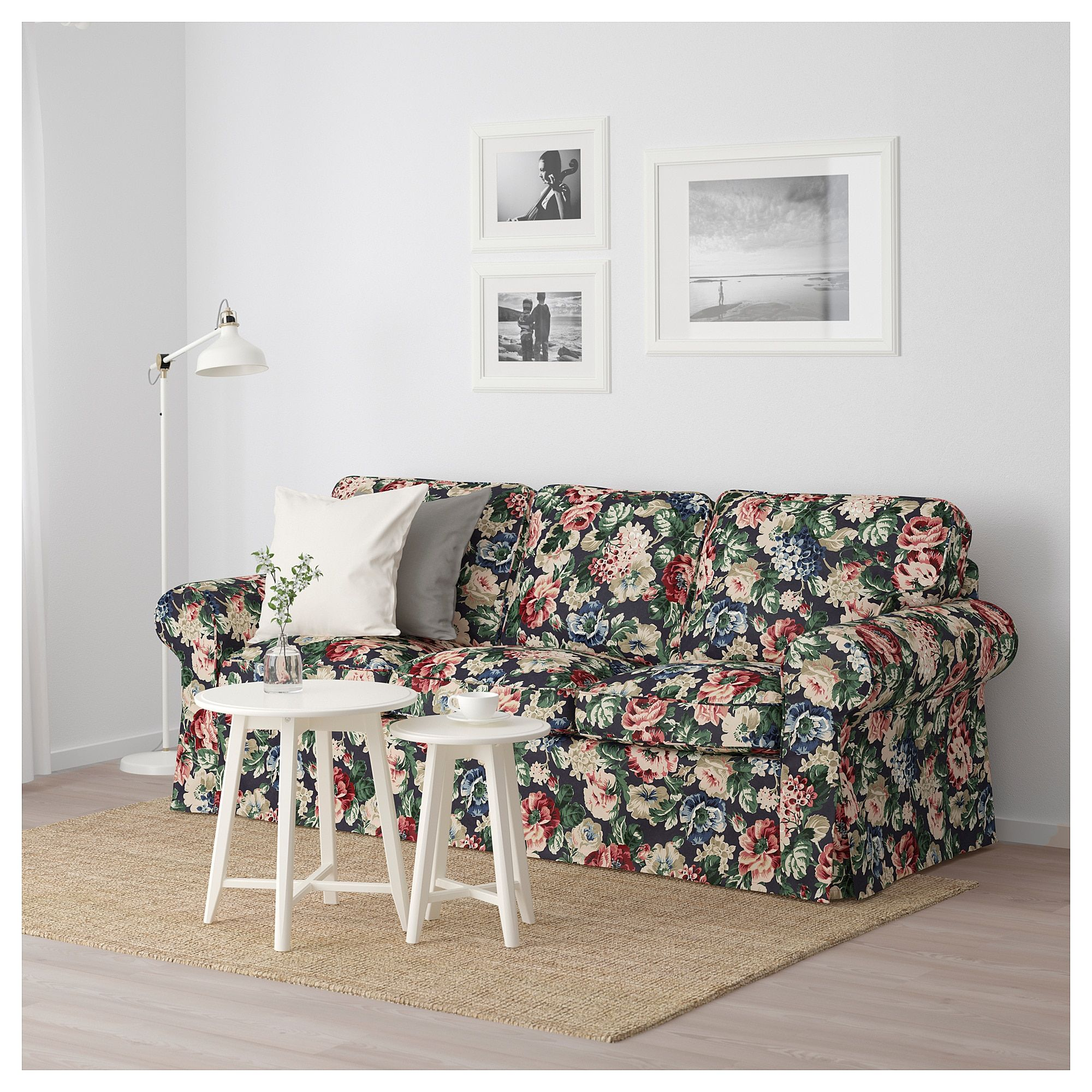 Excellent Ikea Ektorp Sofa Lingbo Multicolor In 2019 Living Room Squirreltailoven Fun Painted Chair Ideas Images Squirreltailovenorg