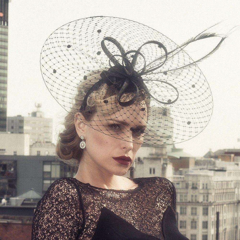 chapeau de c r monie dita noir failsworth hats pinterest. Black Bedroom Furniture Sets. Home Design Ideas