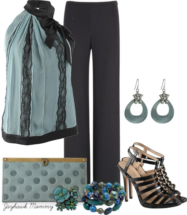 """Halter at Work"" by jayhawkmommy ❤ liked on Polyvore"