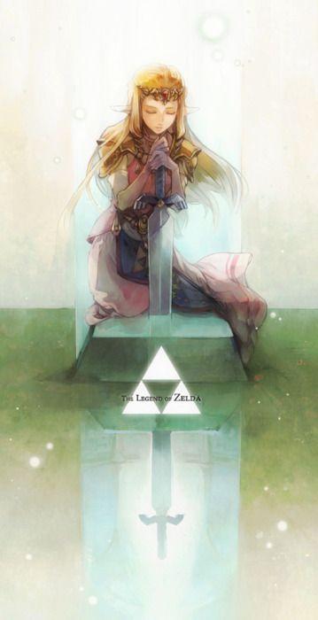 Princess Zelda Over The Master Sword The Legend Of Zelda