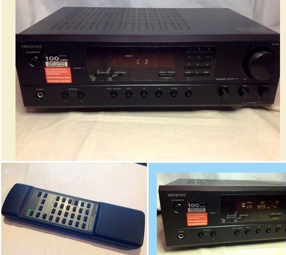 Onkyo Tx 2100 Am Fm Stereo Phono Receiver W Remote Bundle