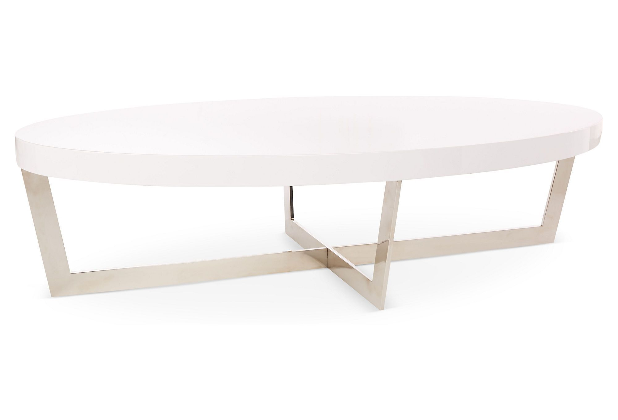 Sleek, Unfussy, But Definitely Eye Catching, This Coffee Table Contrasts Curves