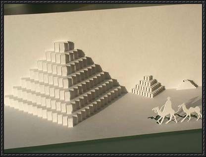 The Great Pyramid Of Giza Kirigami Free Download Kirigami Kirigami Tutorial Kirigami Patterns