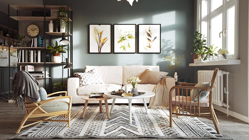 3d Interior Scandinavian House Scene 3dsmax Free Dowload In 2020 Interior Scandinavian Home House Design