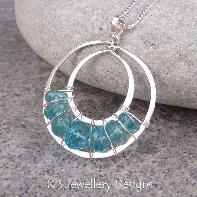 Ocean Blue Lace Up Necklace
