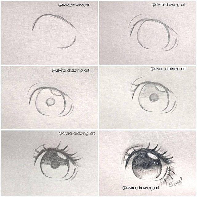 By Elvira Drawing Art Mangadrawing Animedrawing Hairdrawing Realism Drawingtutorial Handsdrawing Anime Eye Drawing Anime Drawings Sketches Eye Drawing