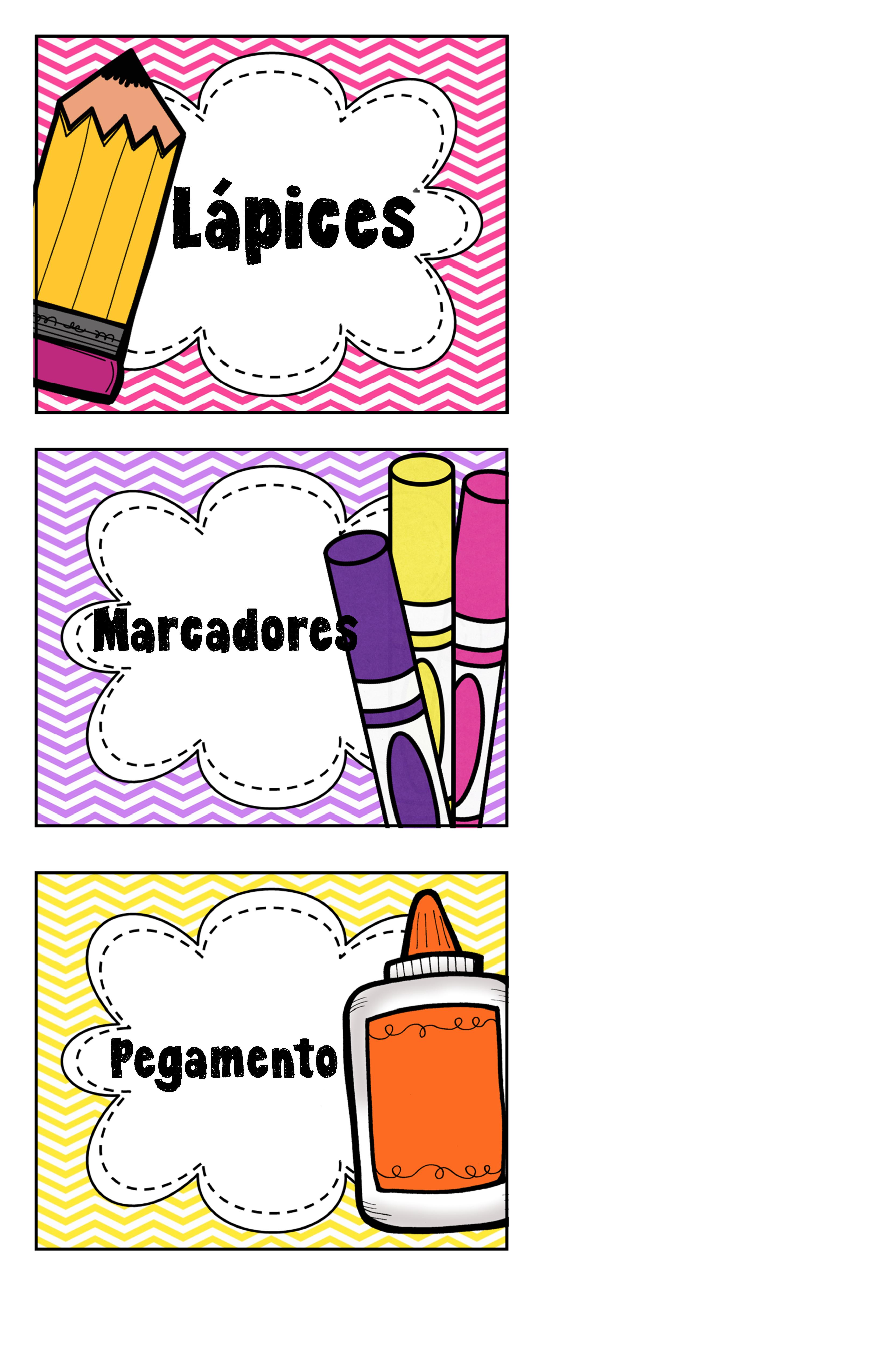 Etiquetas para los materiales del salón. | DECORATE CLASSROOM ...